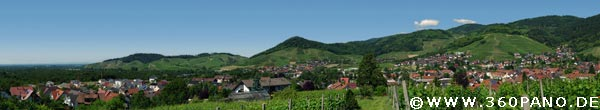 1.75 Gigapixel Panorama von Kappelrodeck