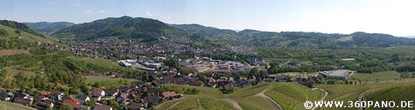 1.5 Gigapixel Panorama von Kappelrodeck