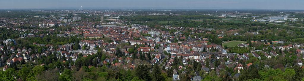 4.5 Gigapixel Panorama Karlsruhe und Durlach
